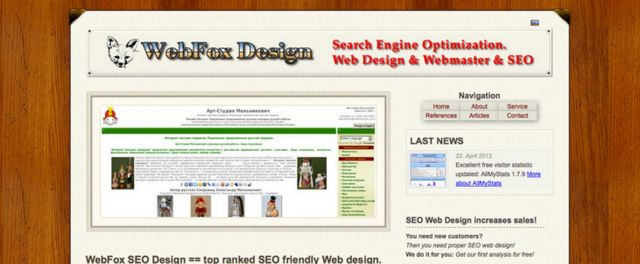 WebFox Design. Project Design, SEO work, and website programming